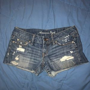 Size 4 American Eagle Distressed Jean Denim Shorts